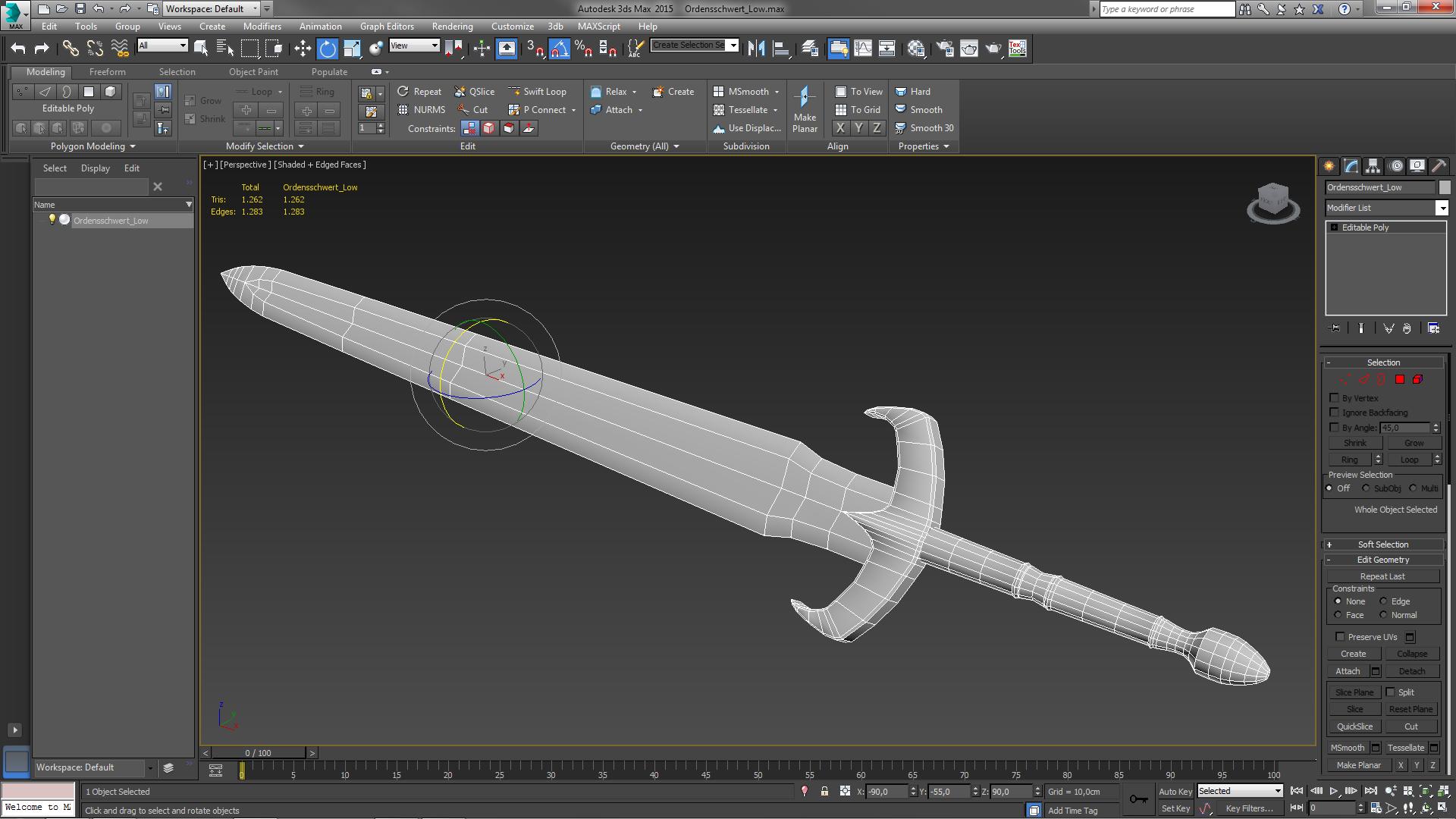 3ds max как сделать меч