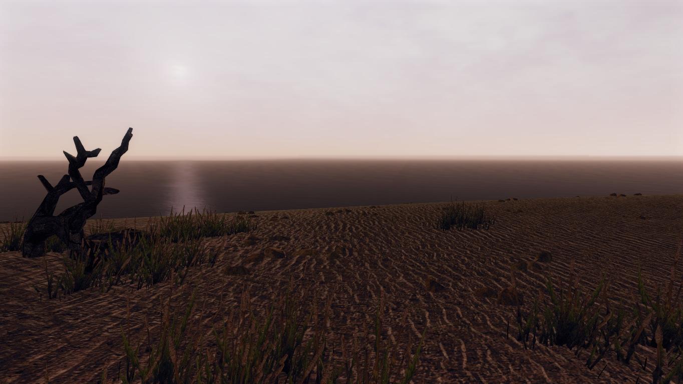 Blick auf den endlosen Ozean am Strand von Ardea