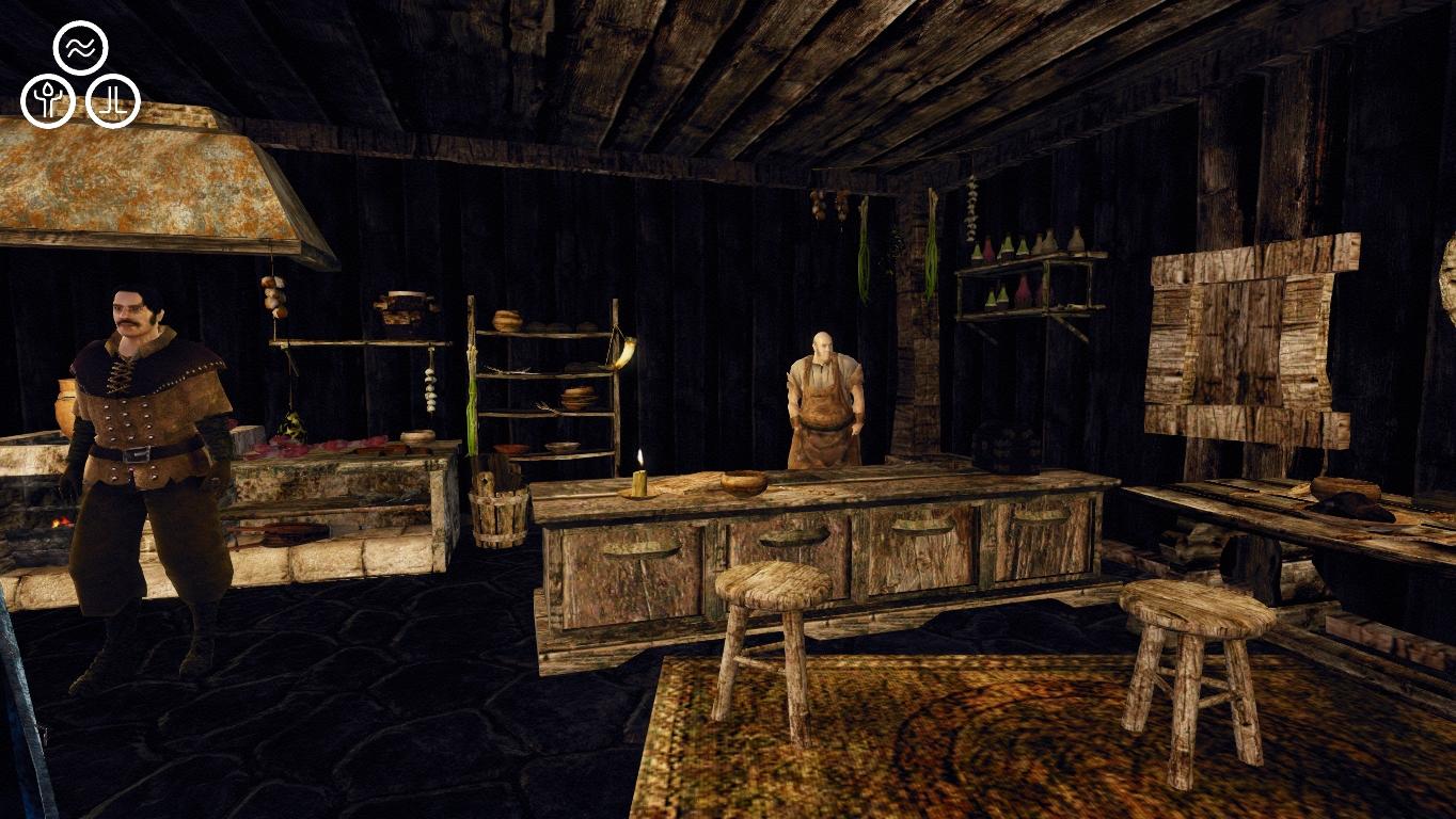 Der Tresen in der Schenke von Montera The bar in Montera's tavern